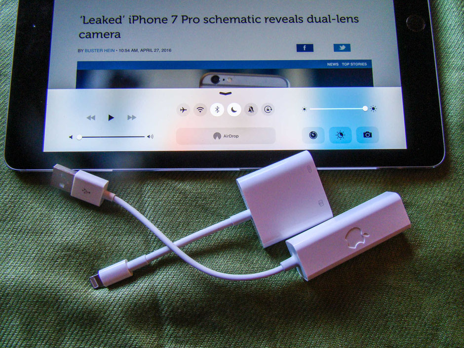 How to make an iPad wired…